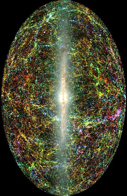 An all-sky view of the entire near-infrared sky reveals the distribution of galaxies beyond the Milky Way