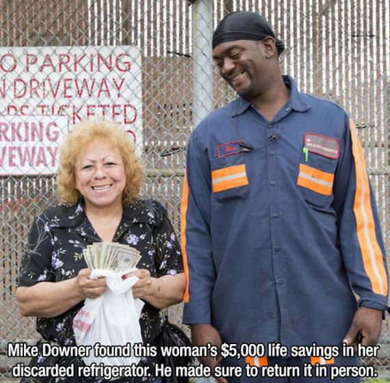 Msn found woman's life savings in her discarded refrigerator. Made sure to return it in person