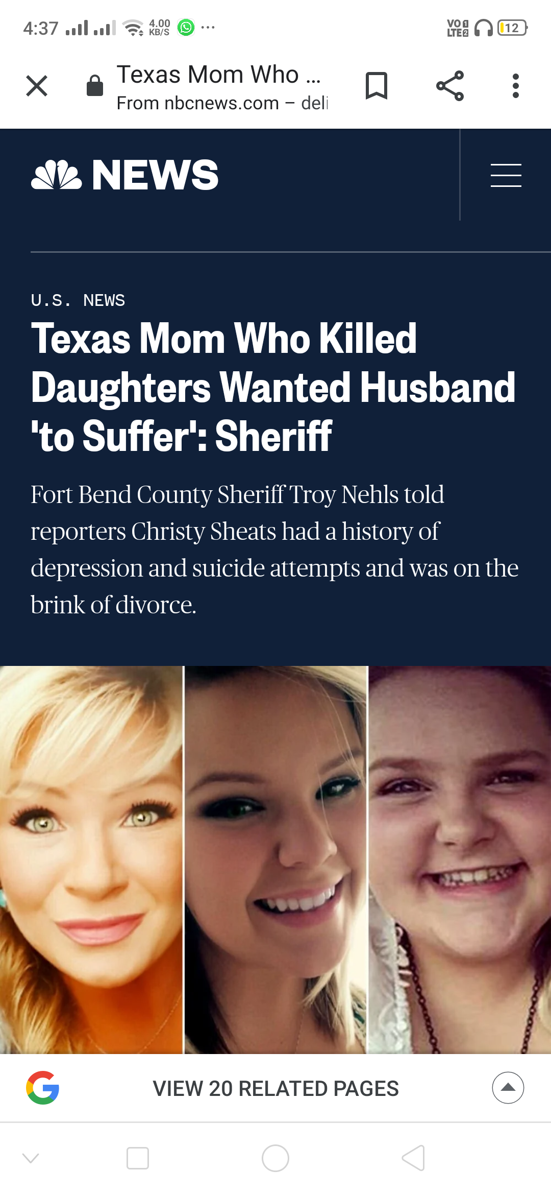 She killed his daughters on his birthday to make him suffer