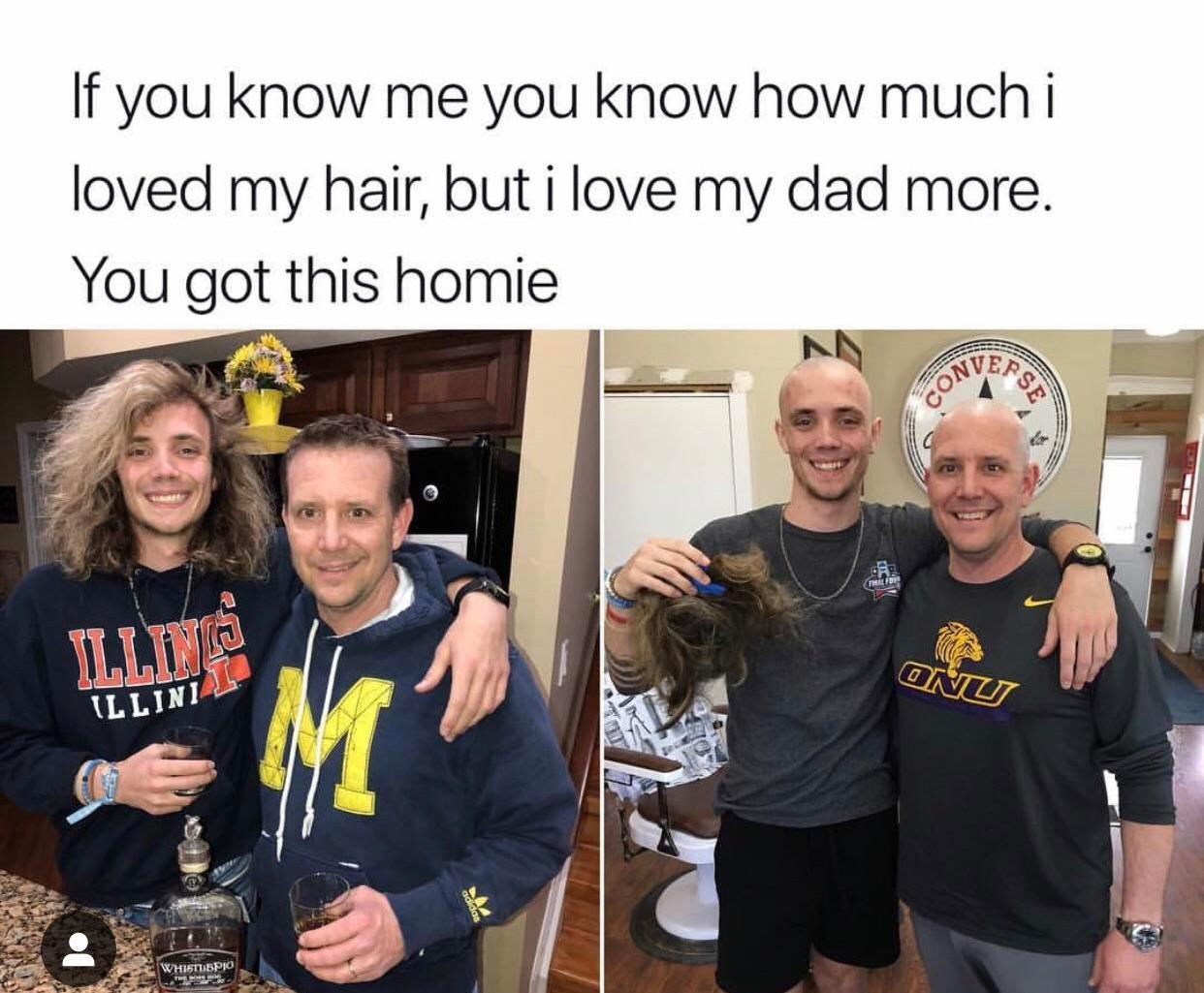 Unconditional love for dad!