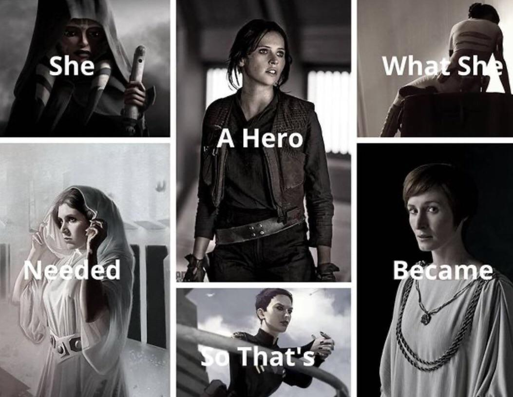 She a hero what she needed so that's became