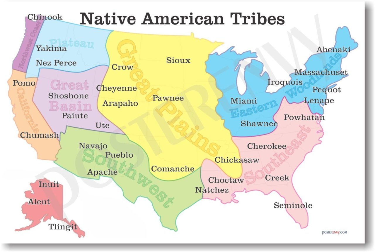 Native American Tribes Map