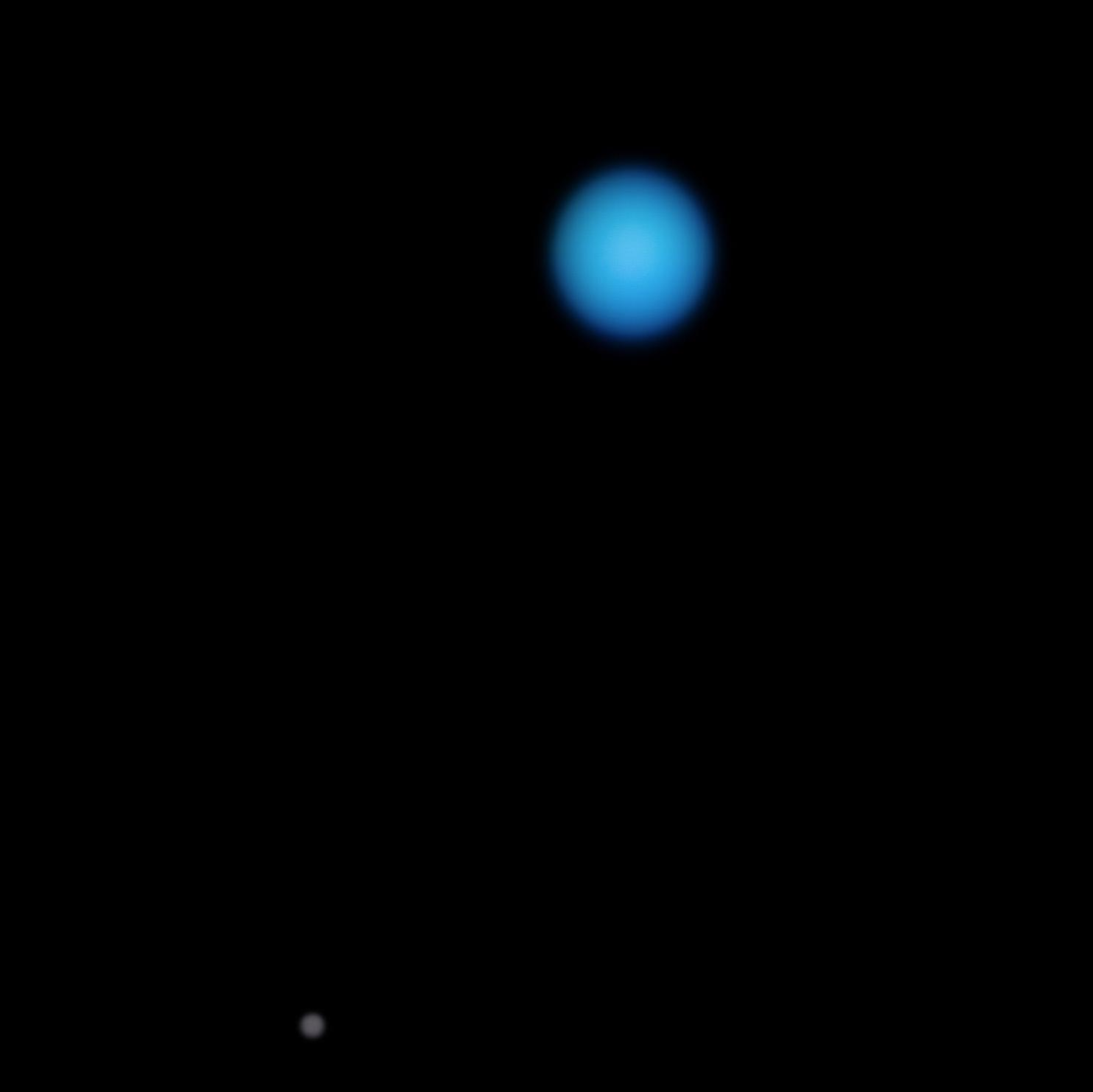2. 7 billion miles away from the Sun, here's an image of Neptune, the last planet in our Solar System