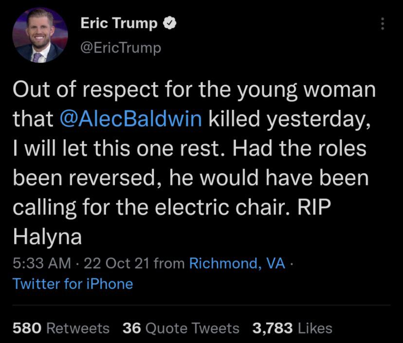 He just deleted it, but as we all know the internet is forever