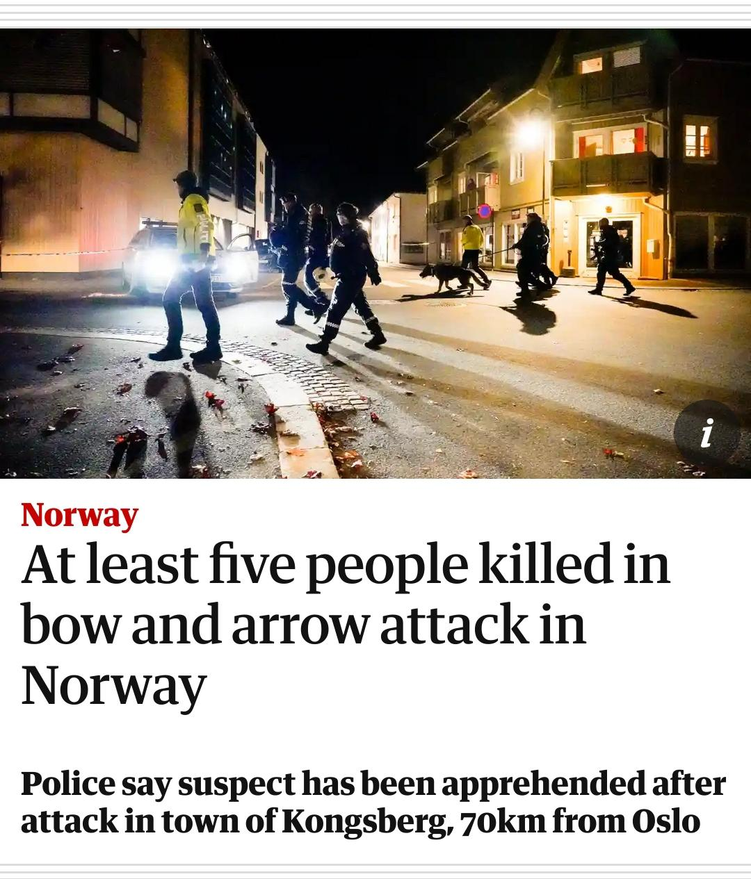 POS kills 5 people with bow and arrow