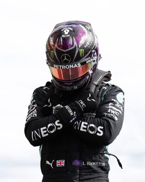 Lewis Hamilton's tribute to the late Chadwick Boseman