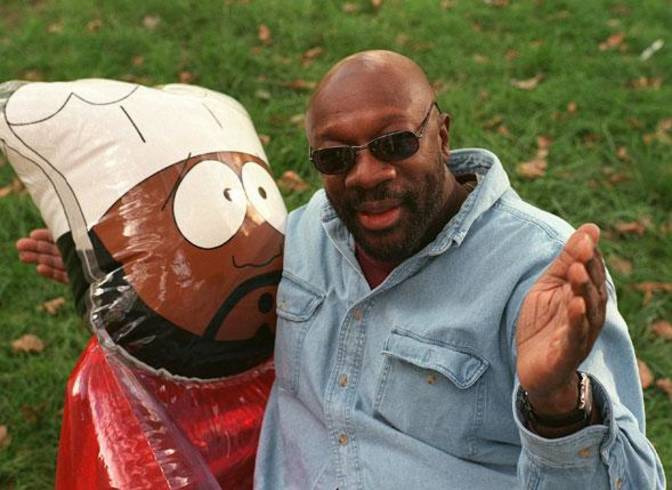 Legendary Soul Singer Isaac Hayes voiced the character Chef on the popular show South Park