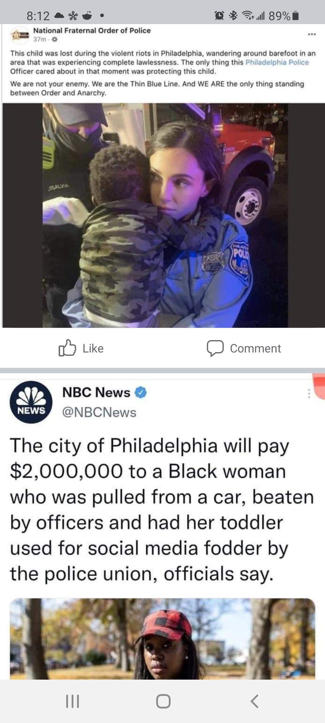 """Kidnapping a kid and then using the pic for propaganda about how you are """"protecting"""" people"""