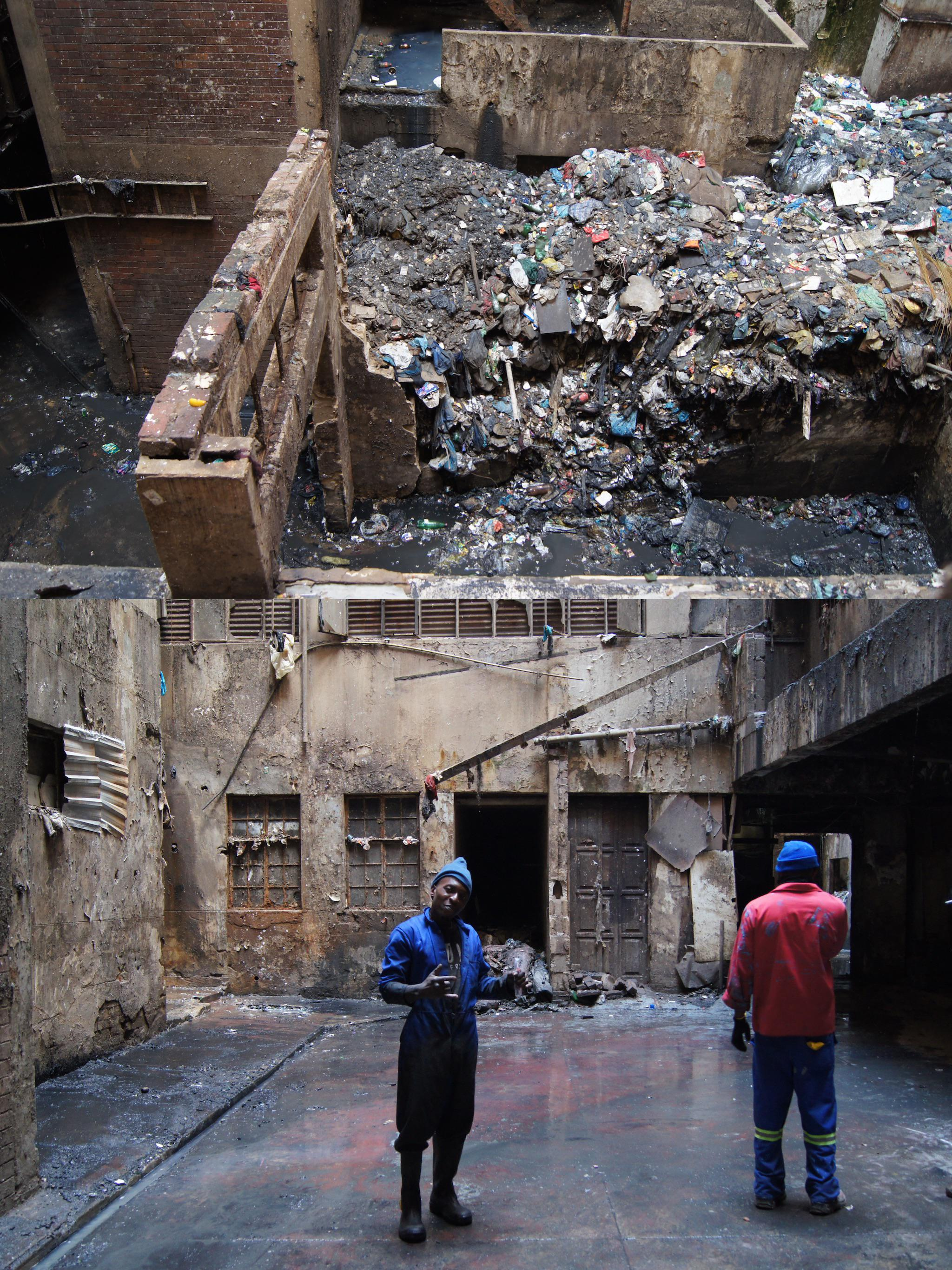 Volunteers cleared 600 tonnes of waste, rubble and trash from an Orphanage