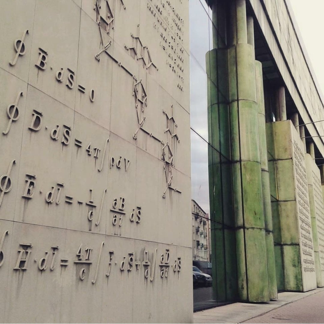 Maxwell's Equations outside the university of Warsaw, Poland
