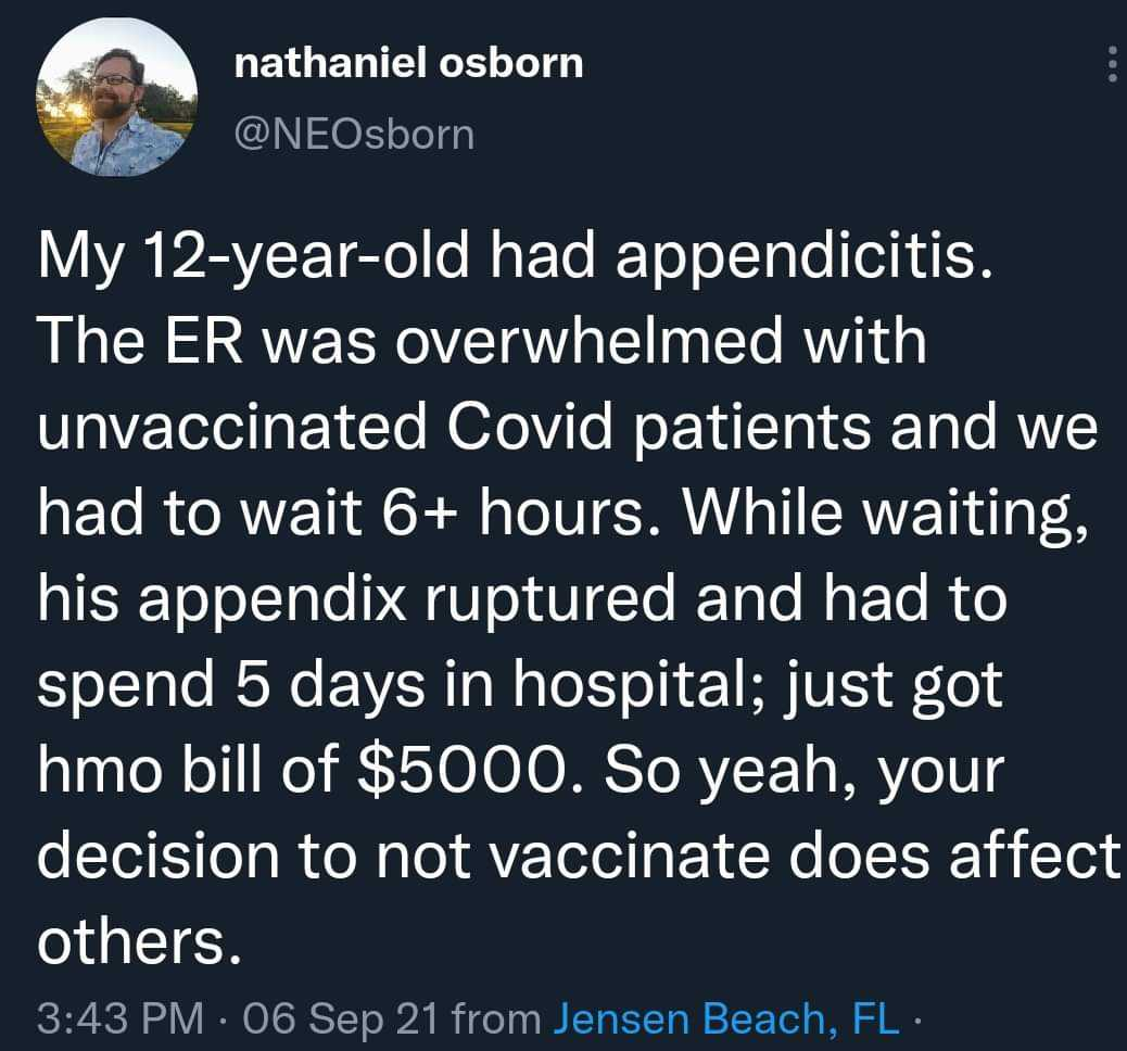 Having to suffer because of antivaxxers