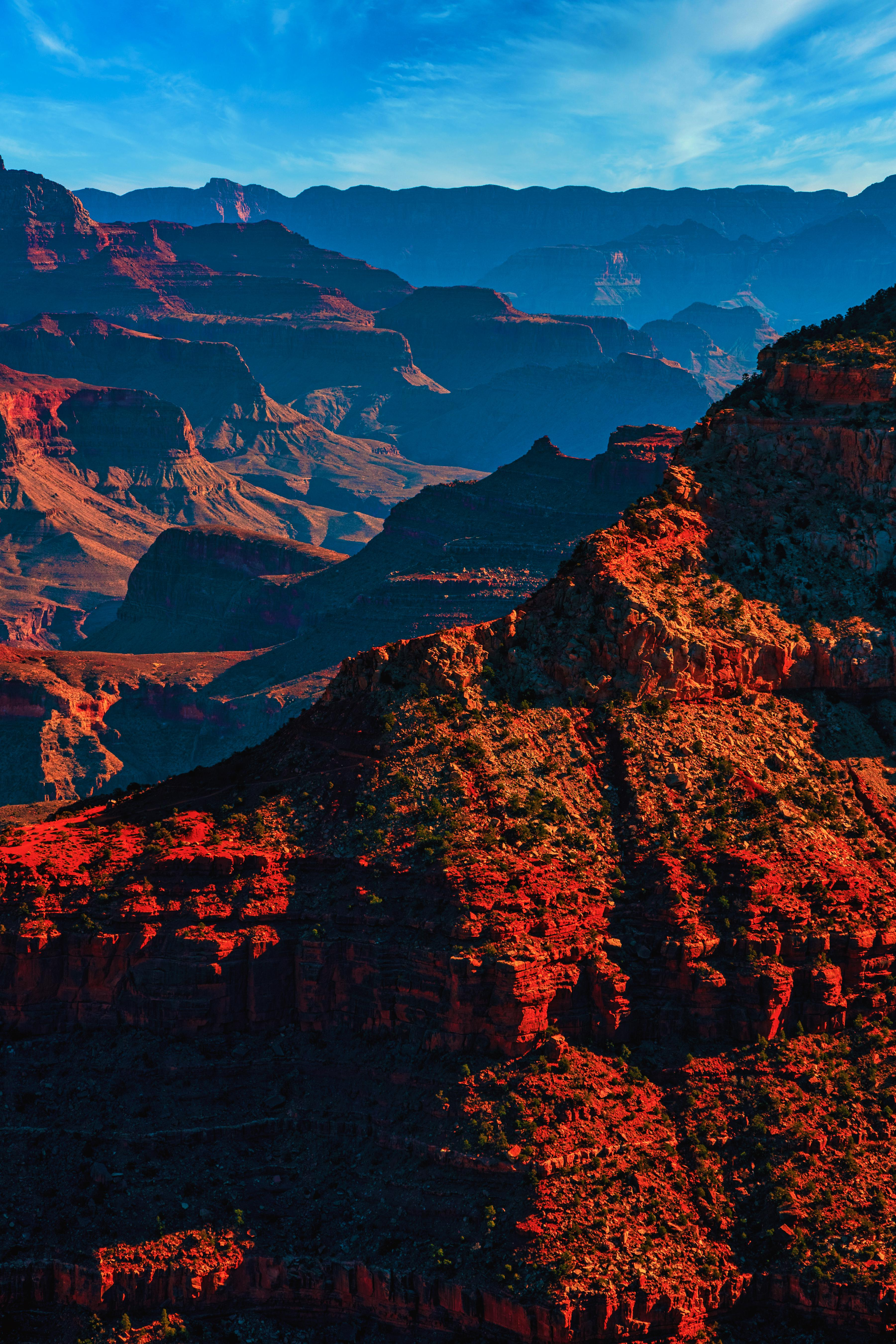 A stunning layer of Grand Canyon on a blue sky day, AZ 😊😮