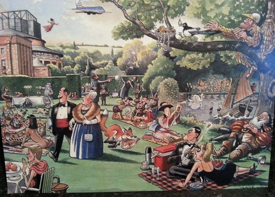 Can you name all 15 operas in this postcard?