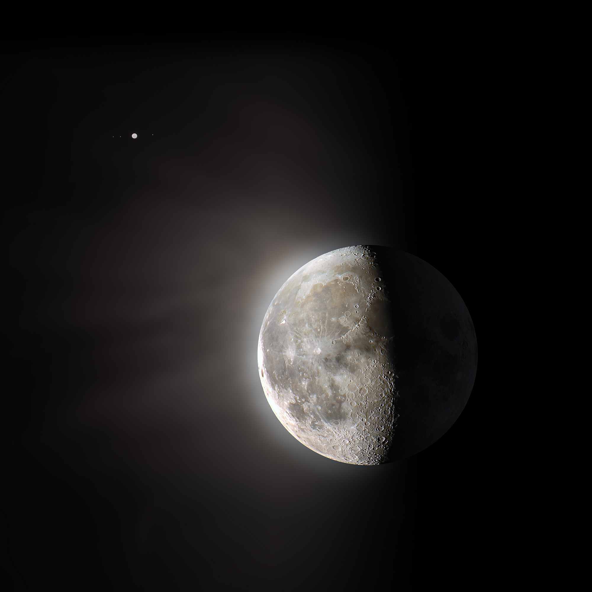 Moon and Jupiter today