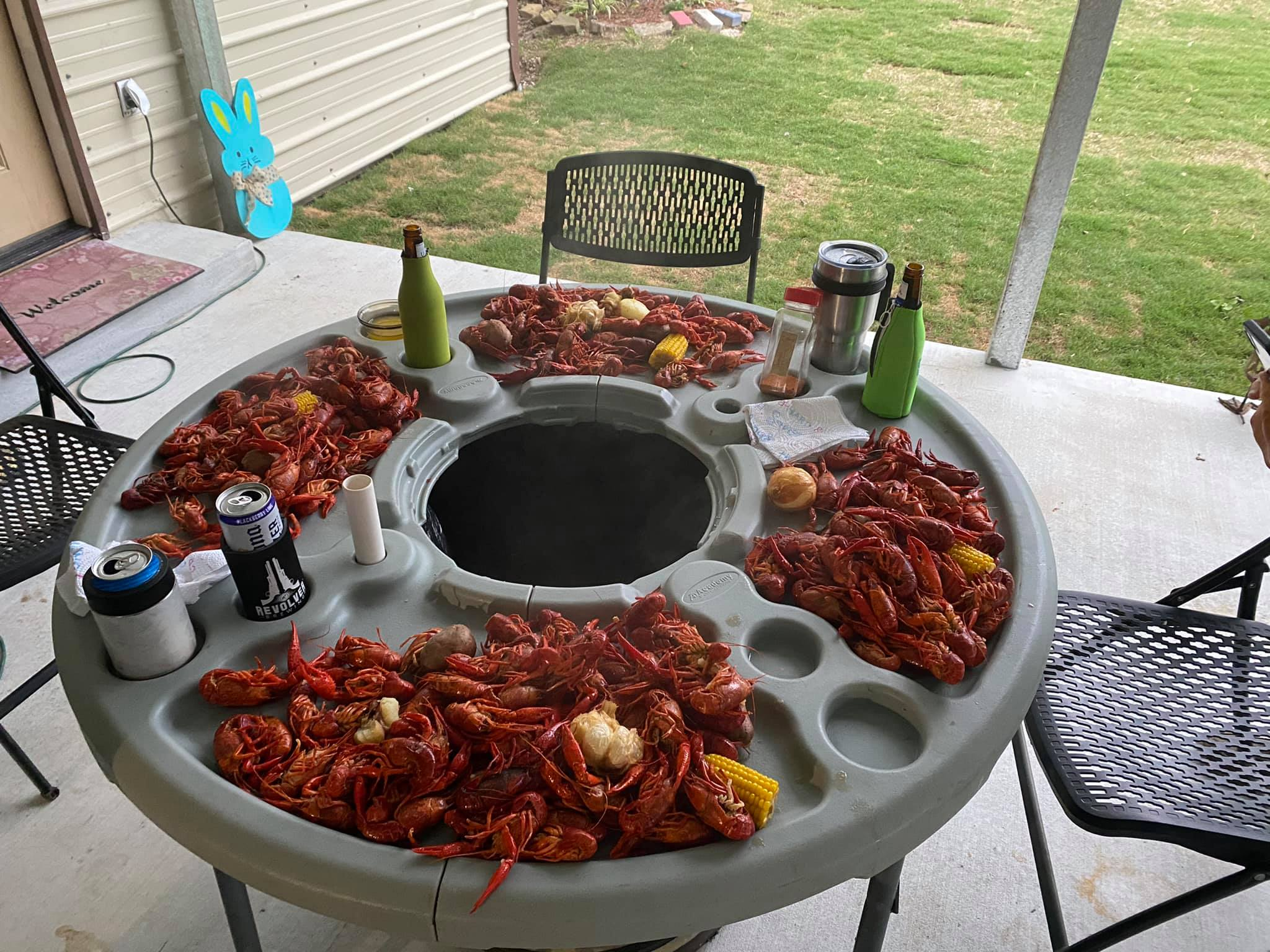 Louisiana back yard Crawfish boil