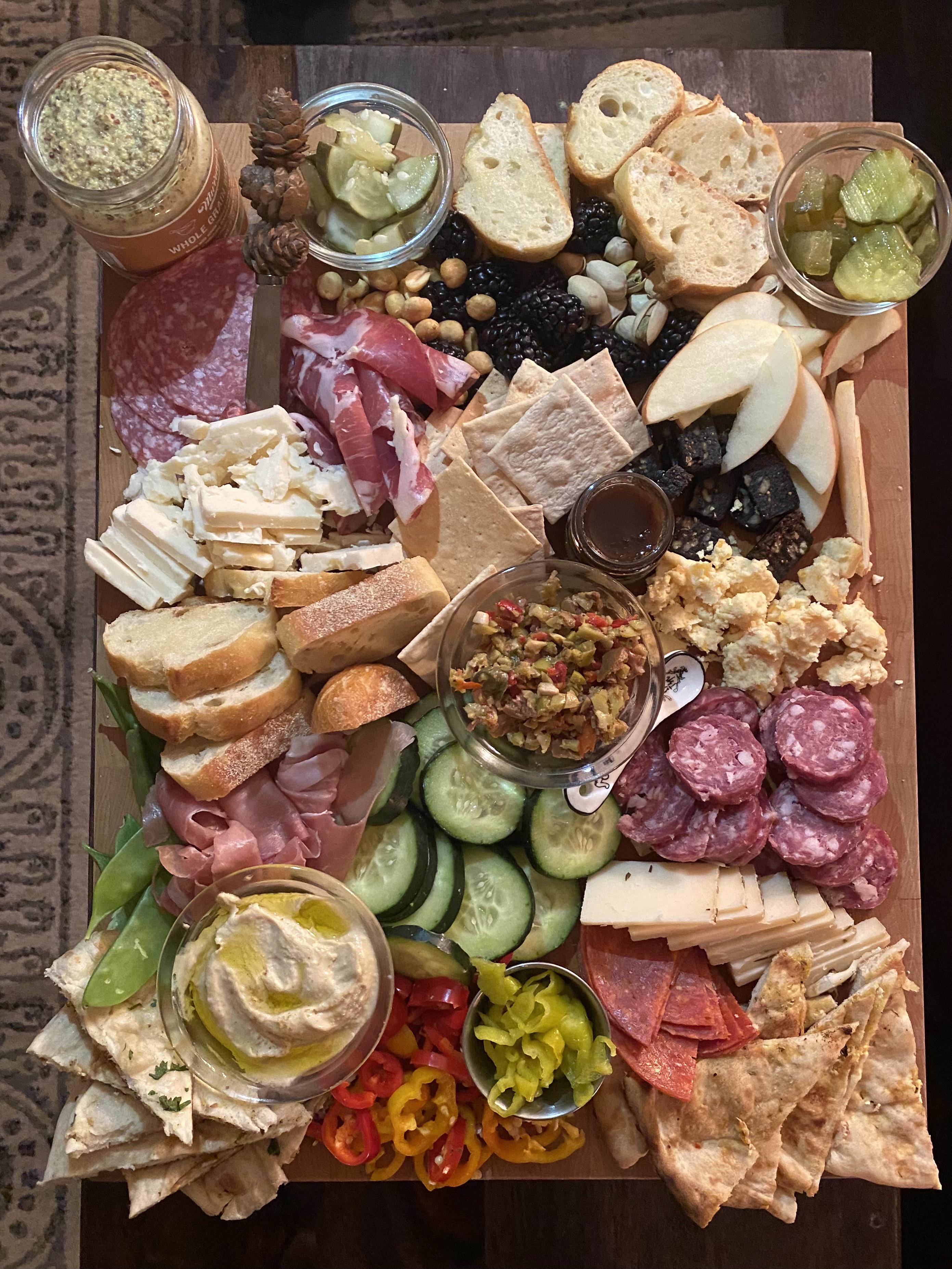 I made a charcuterie board for my birthday