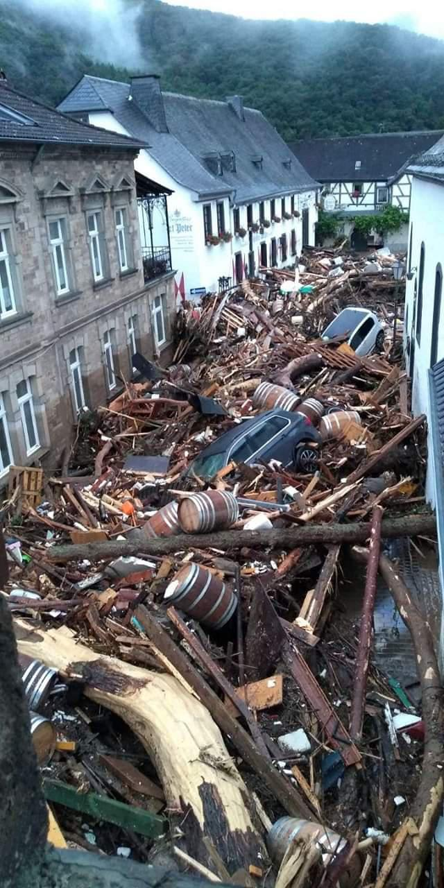 The aftermath of recent flooding in Germany
