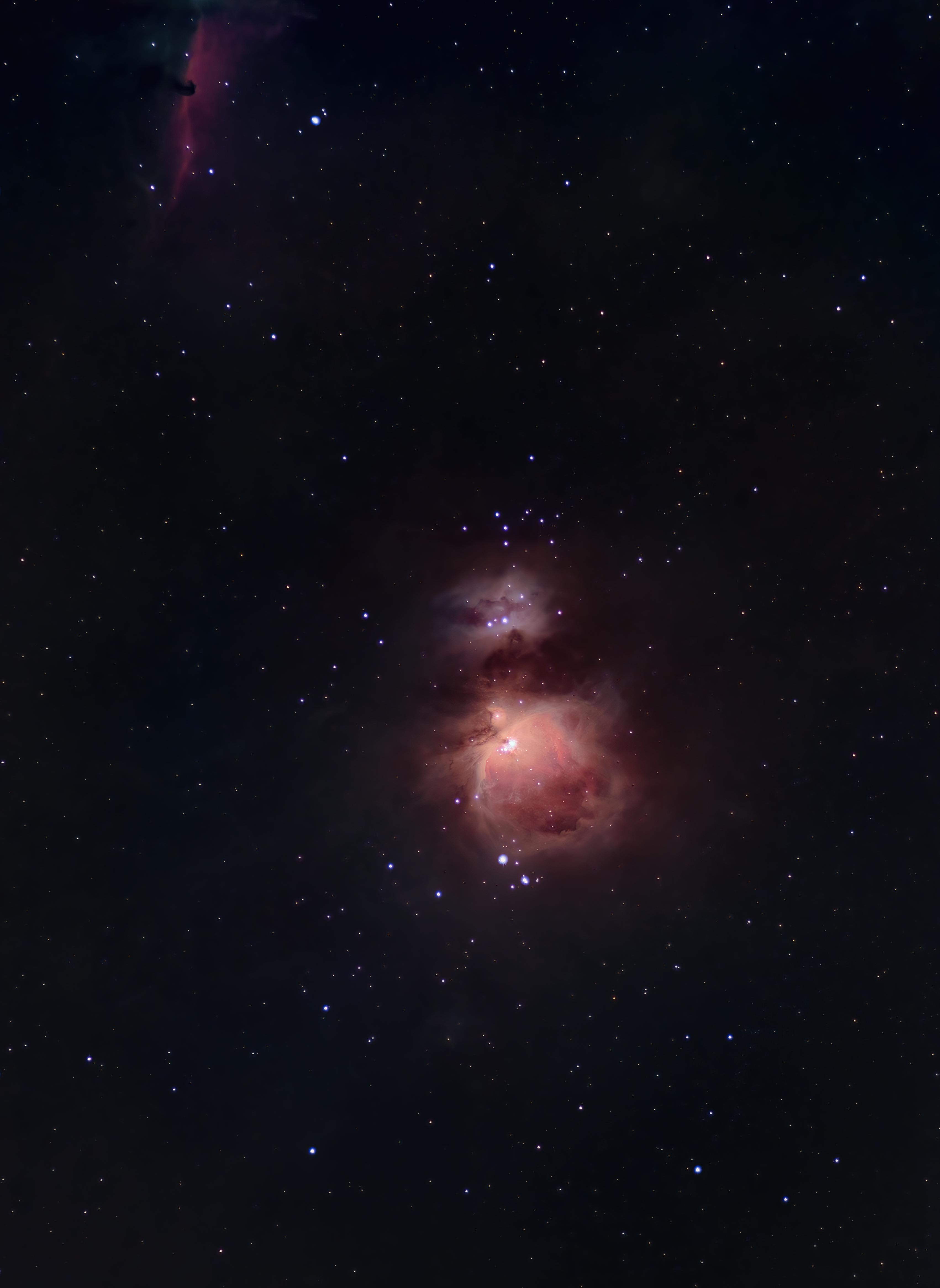 Orion and the Horsehead nebula
