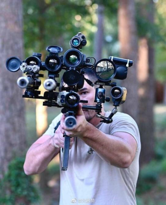Imagine having all these scopes and still miss the target