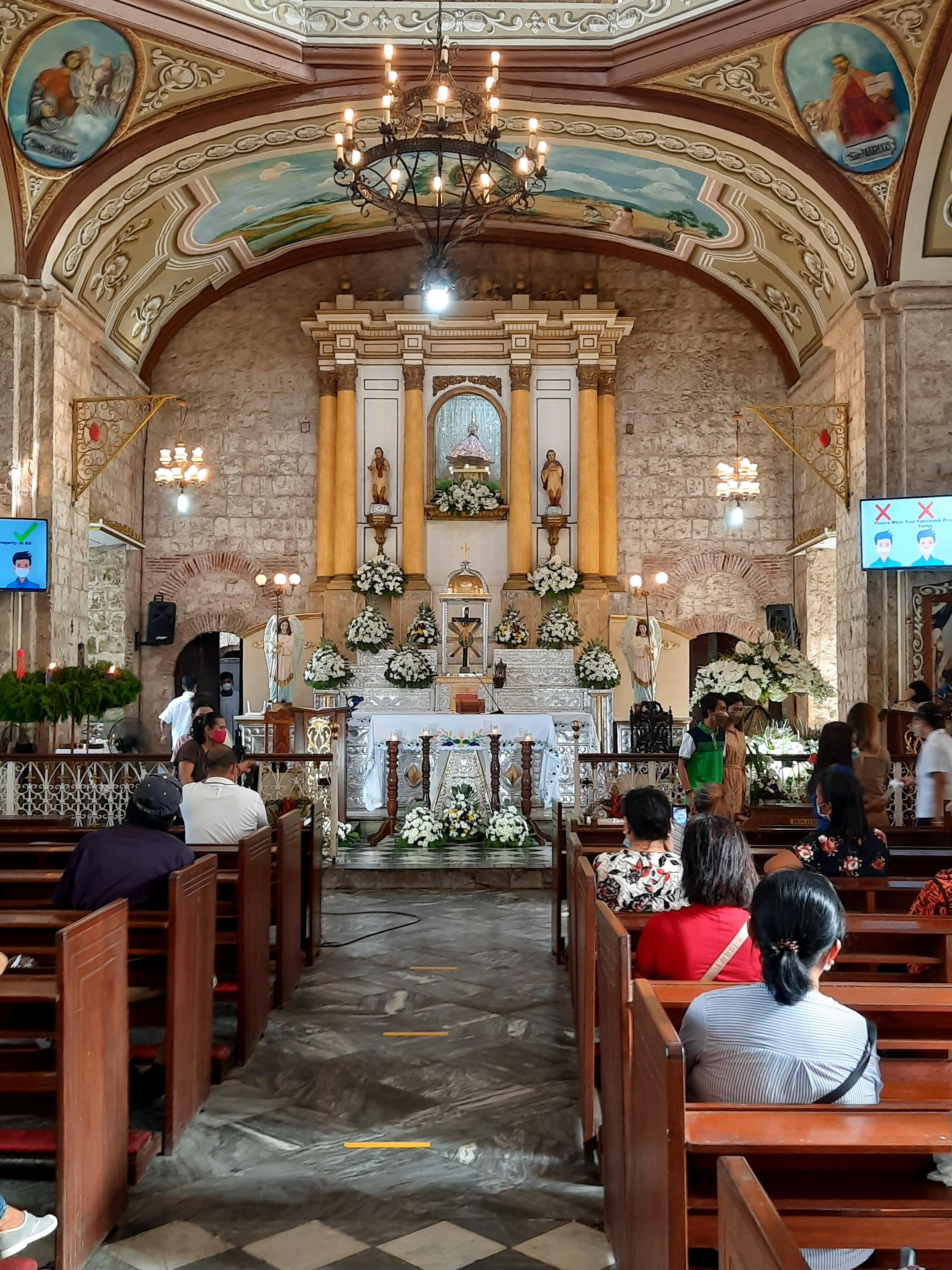 Interior of the Archdiocesan Shrine of Our Lady of Caysasay in Labac, Taal, Batangas, Philippines