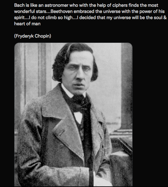 A lovely quote about Bach from Chopin
