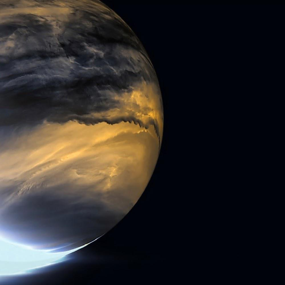 Infrared image of clouds on Venus