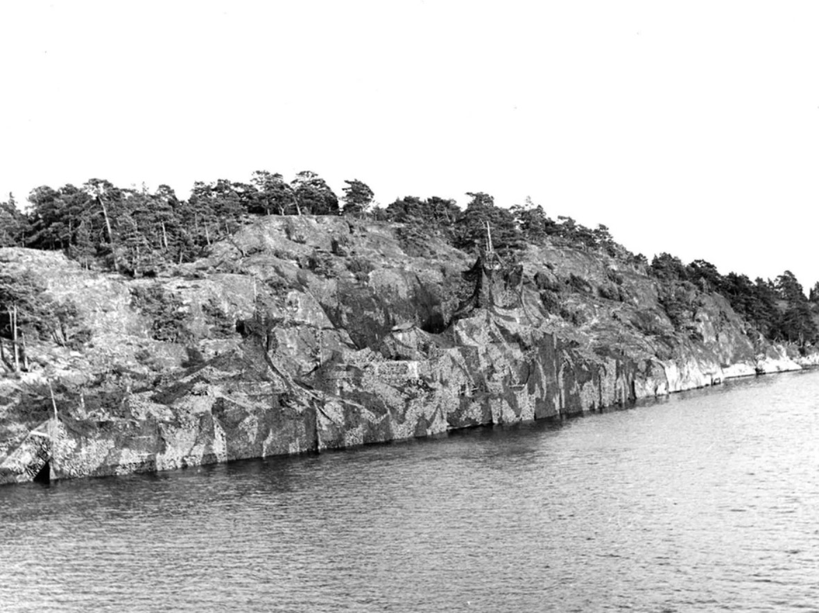 A camouflaged Navy ship