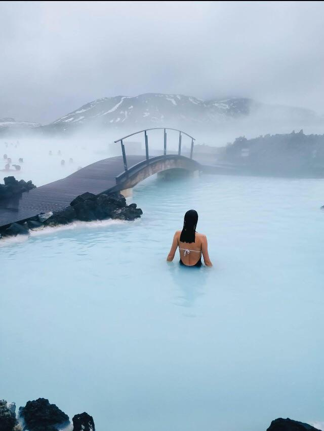 🔥 The blue lagoon in Iceland, a geothermal hot spring