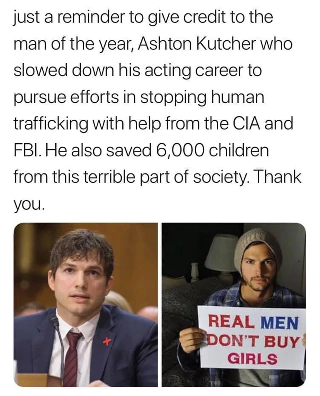 Ashton Kutcher a hero
