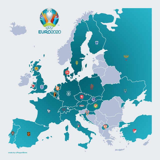 Countries qualified for Euro 2020