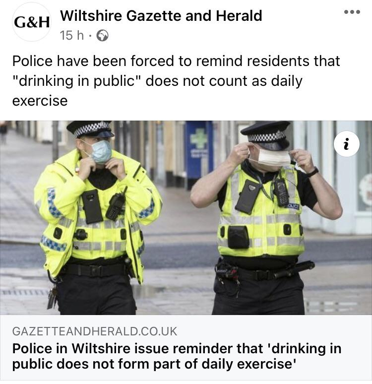 Drinking in public is not count as daily exercise 🤐🥴