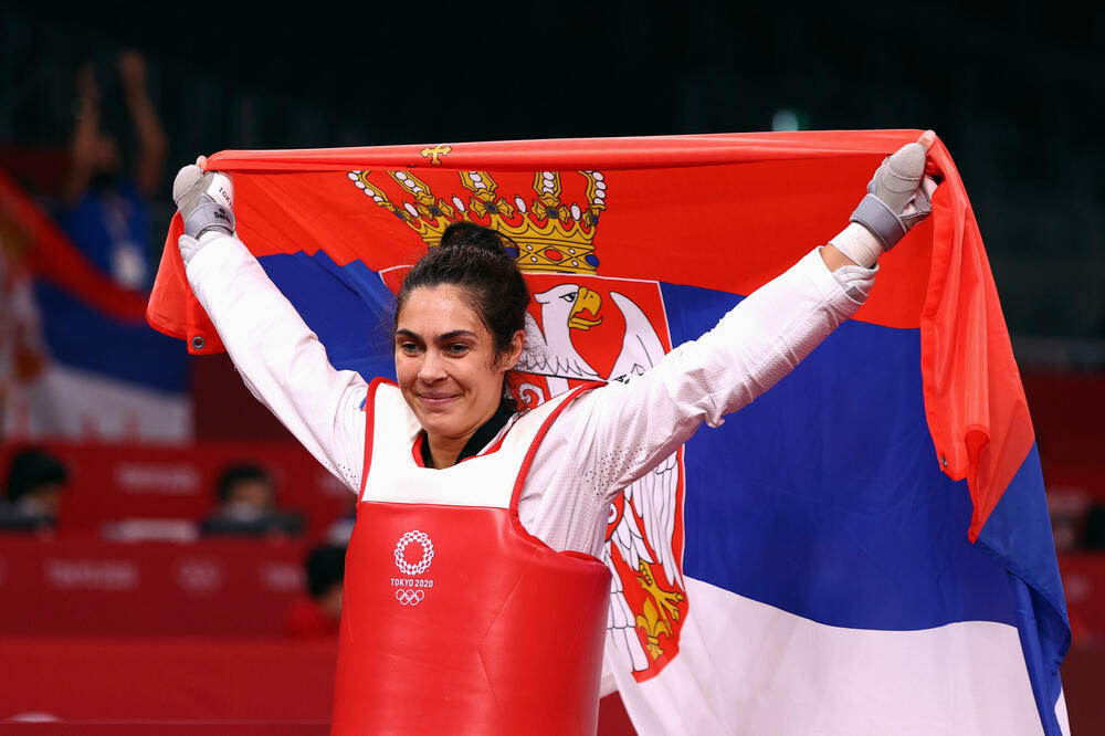 Milica Mandić of Serbia won her second gold medal in taekwondo at the Tokyo Olympics, making it the first gold medal for Serbia at this year's games