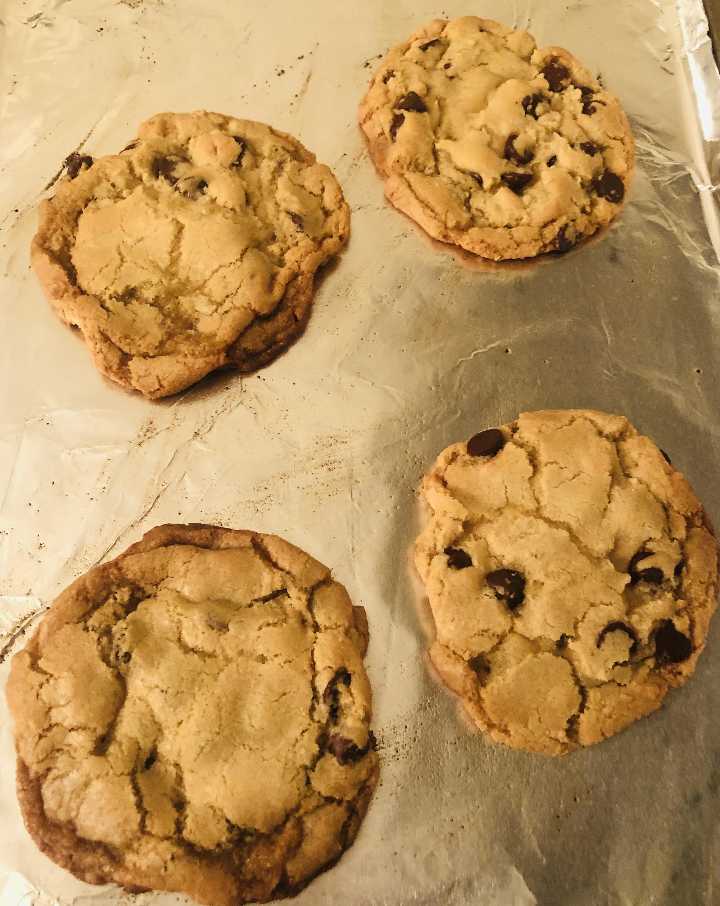 Chocolate chip cookies to celebrate 420 days alcohol-free!