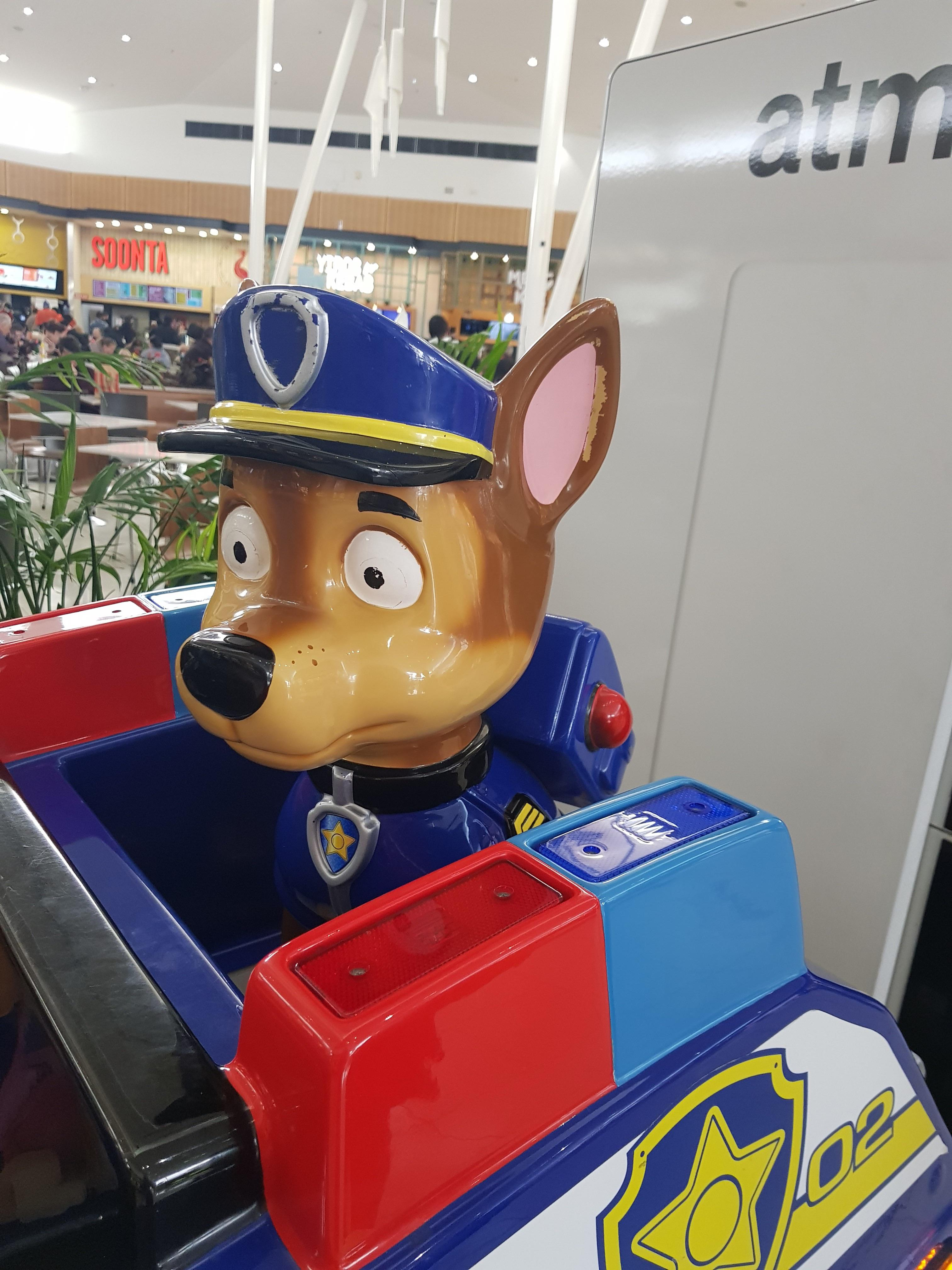 Saw this at the mall yesterday, Chase has seen better days