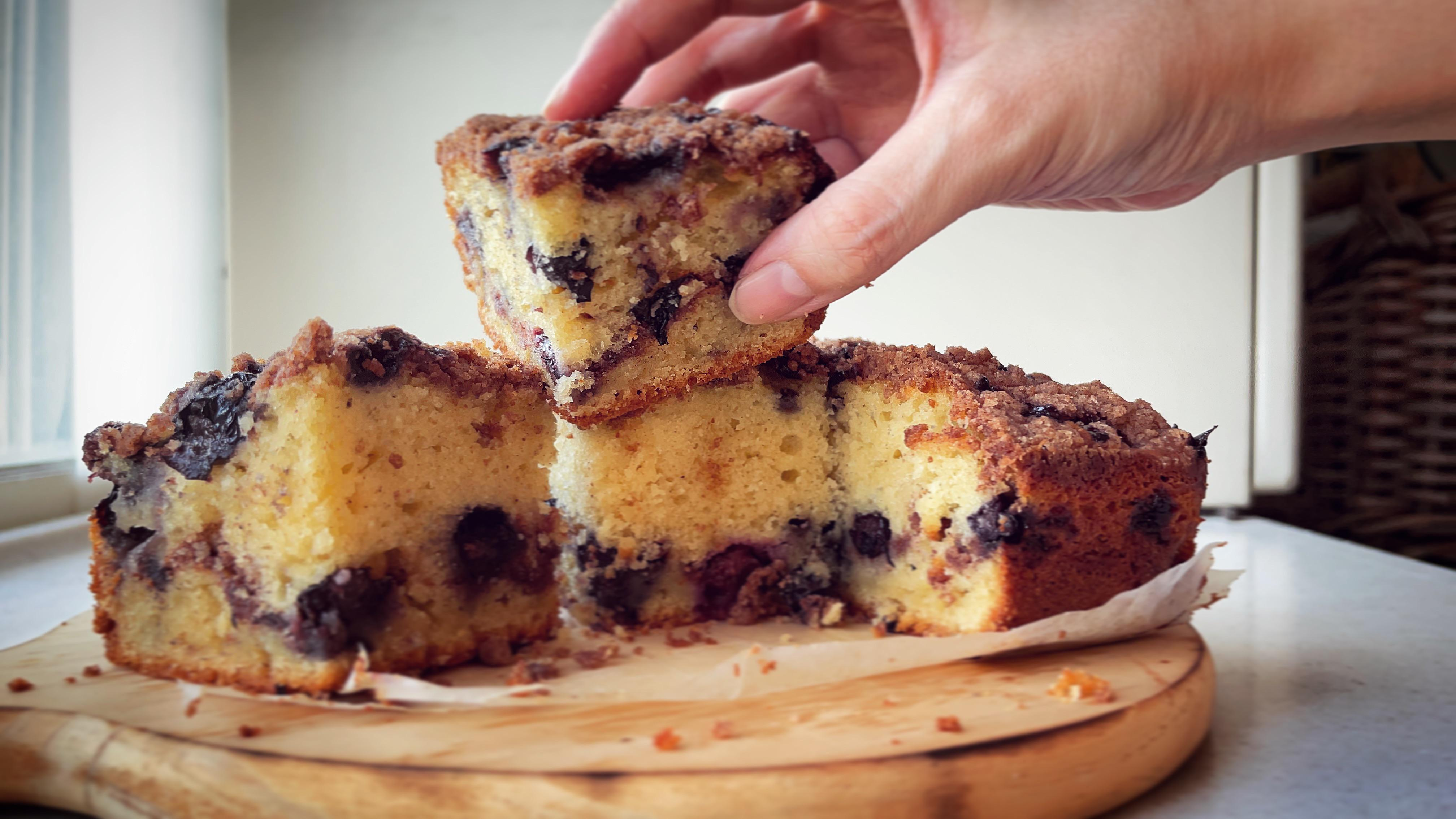 Browned butter blueberry coffee cake