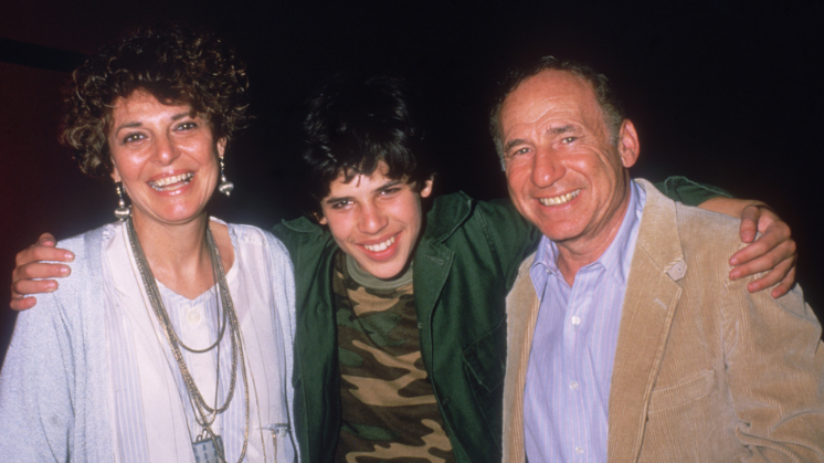 'World War Z' author Max Brooks with his parents, Anne Bancoft and Mel Brooks, 1980s