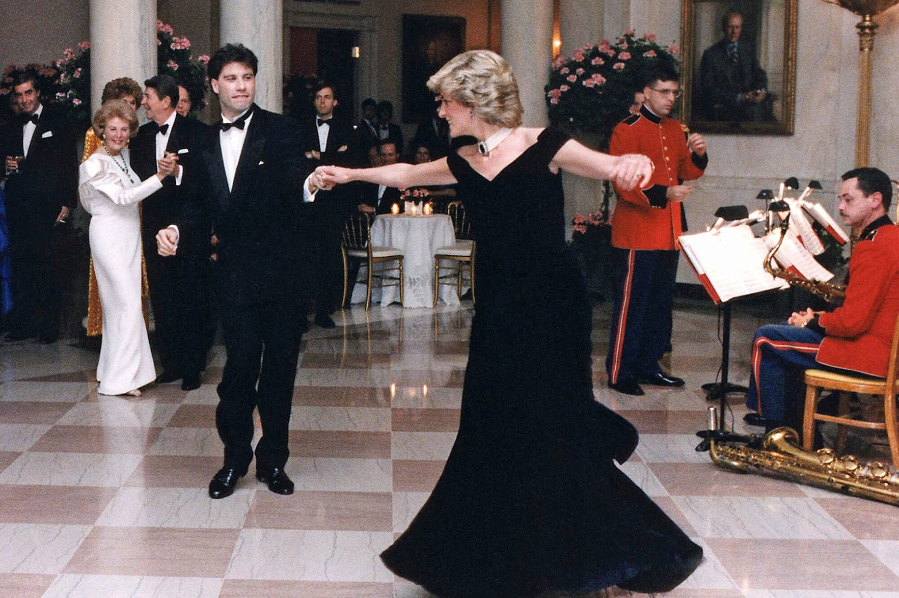Princess Diana dance in the white house