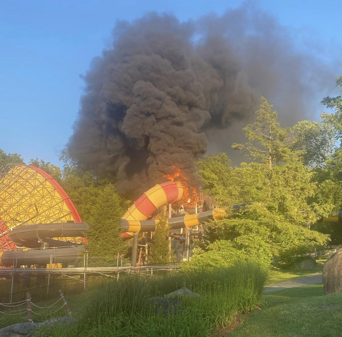 Remember Action Park? Their water slide just caught on fire