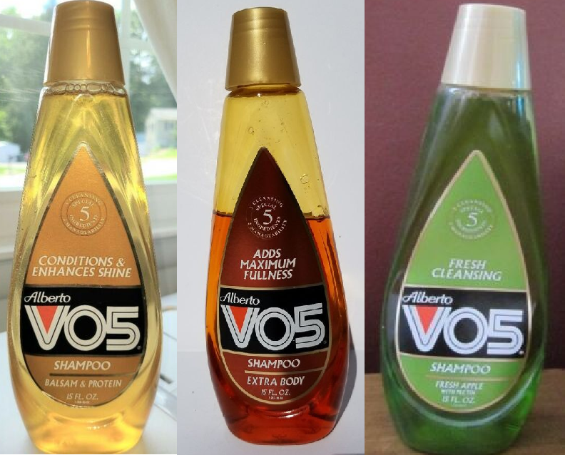 The old VO5 bottles