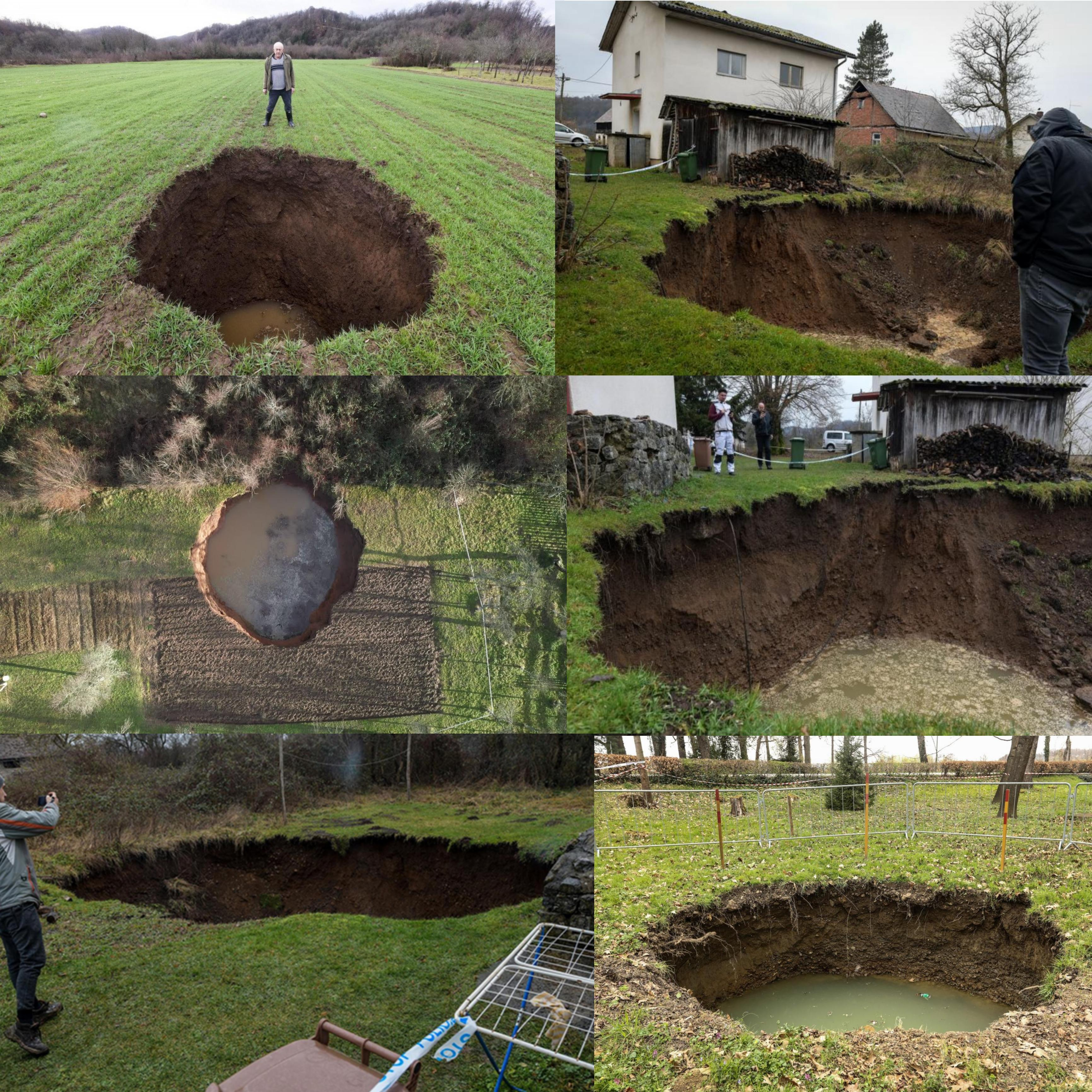 Holes started appearing after 6.4 earthquake in Croatia and they are getting bigger day by day