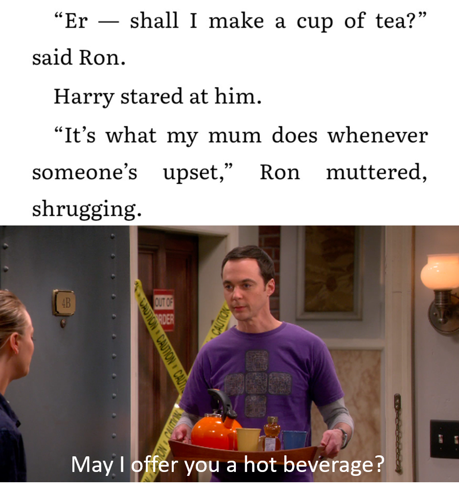 Mrs. Weasley took a leaf out of Sheldon's book