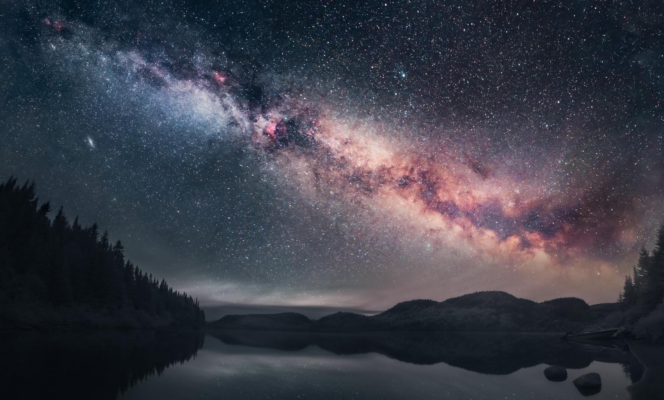 The Milky Way over Petit Lac Batiscan