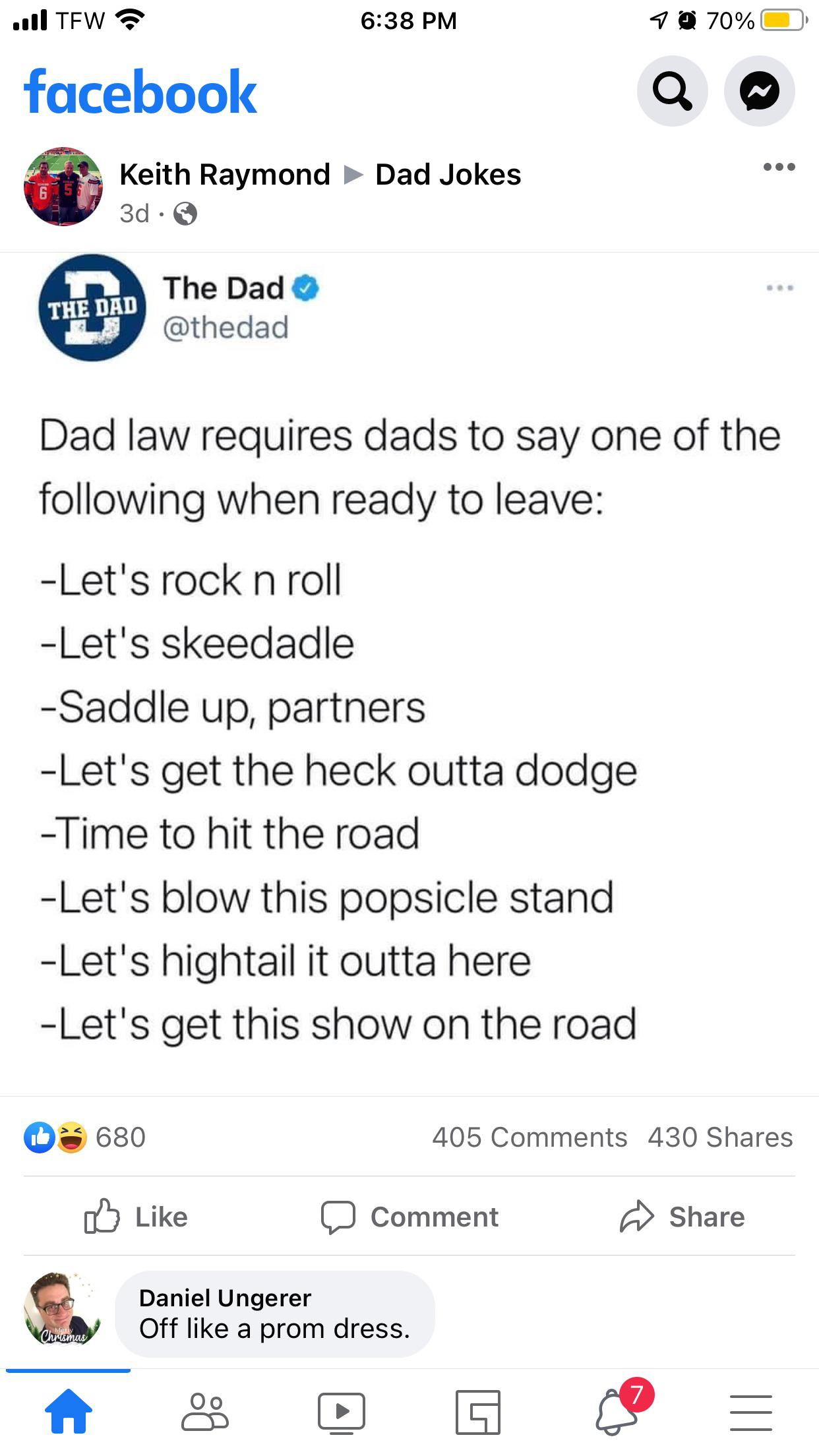 The Dads law 😅