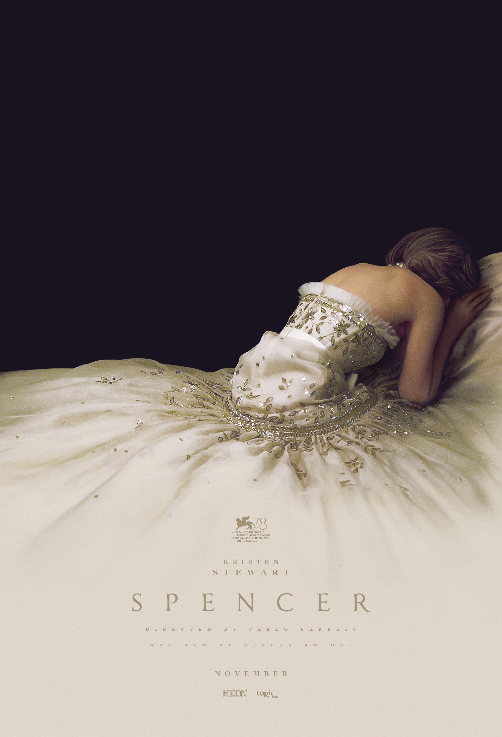 New poster for Pablo Larraín's SPENCER, in theaters Nov. 5
